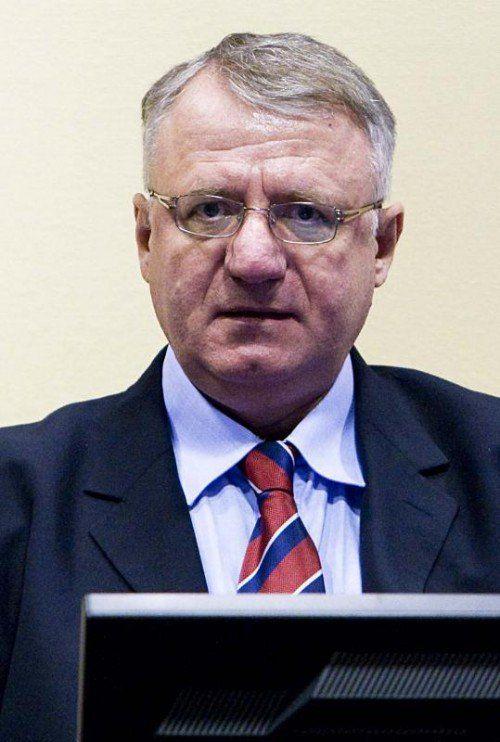 Vojislav Seselj stellte sich 2003 dem Kriegsverbrechertribunal. AP