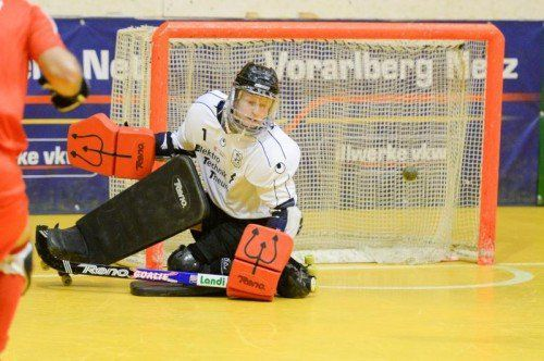 Wolfurt-Goalie Klemens Schüssling. Foto: VN/Lerch