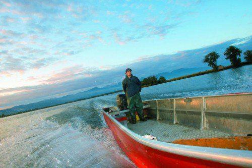 Symbolbild mit dem Fischer Franz Blum.  Foto: VN/Paulitsch