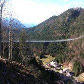 Tiroler Hängebrücke in Guinness Buch der Rekorde