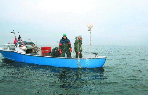 Bodenseefischer machten im Rahmen ihrer Jahreshauptversammlung auf die problematische Situation aufmerksam.  Foto: G. Grabher