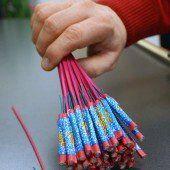 Vorsicht bei der Verwendung von Feuerwerkskörpern
