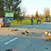 Schwerer Motorradunfall auf der Höchsterstraße