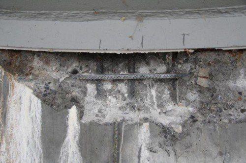 Der Stahl unter dem Beton ist bereits zu sehen. Foto: Rauch