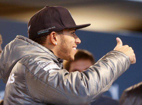 Die nächste Auszeichnung für Formel-1-WM Lewis Hamilton. Foto: ap
