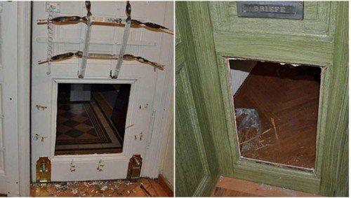 Die Täterschaft brach die unteren Türhälften auf und gelangte so ins Innere der Wohnungen. Foto: Polizei Wien