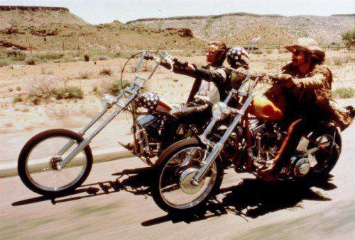 """Easy Rider"" Peter Fonda und Dennis Hopper."