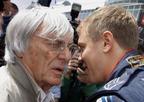 Ecclestone kritisiert die Einstellung von Vettel. Foto: apa