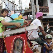 Wieder bedroht ein Taifun die Philippinen