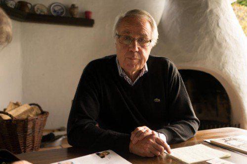 Eugen Wirth in seinem Haus in Bregenz.  Foto: VN/Hartinger