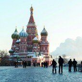 Geschäftiges Treiben in Moskau