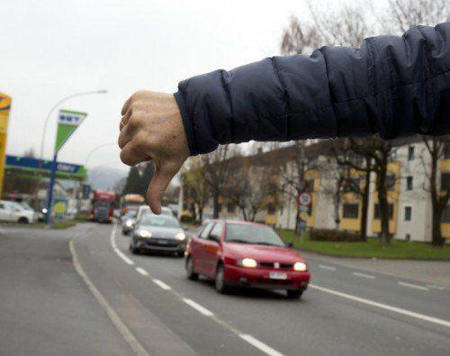 Lustenau will sich gegen den Verkehr zur Wehr setzen.