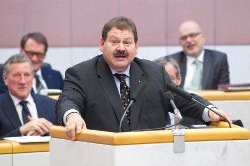 """Hubert Kinz: """"Angriff auf Tourismuswirtschaft.""""  FOTO: vn/STEURER"""