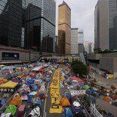 Behörden in Hongkong setzten den Demonstranten ein Ultimatum bis Donnerstag