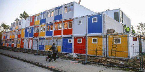 In anderen Ländern sind Container für Asylwerber bereits normal. Diese hier wurden in Berlin aufgestellt. Foto: REUTERS