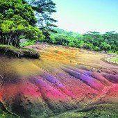 Siebenfarbige Erde auf den Hügeln Chamarels