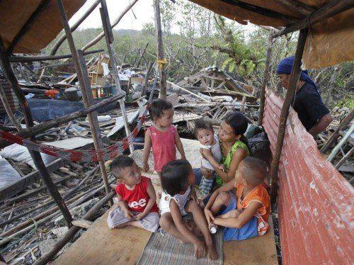 In San Julian ist die Zerstörung am größten: Hunderte Fischerhütten wurden weggerissen, Tausende Menschen sind auf Hilfe angewiesen.  RTS