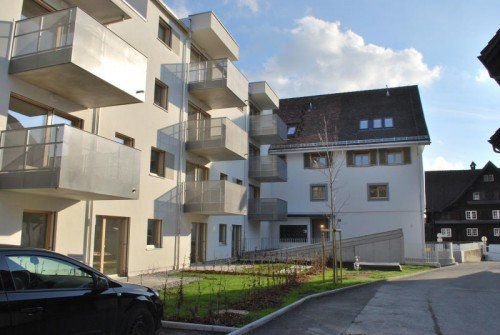 Jährlich entstehen in Dornbirn – im Bild die neue Schlossbräu-Wohnanlage – zwischen 40 und 60 gemeinnützige Wohnungen.  Foto: RBDO