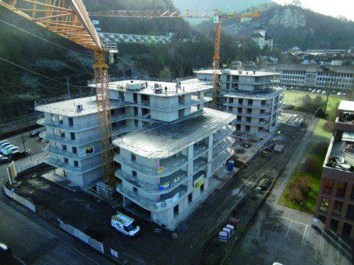 Konnte in Rekordzeit in die Tat umgesetzt werden: der Rohbau für den Wichnerpark in Feldkirch.