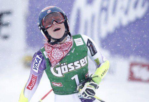 Mikaela Shiffrin möchte im heutigen Slalom im Kühtai auf die Siegerstraße zurückkehren. Foto: apa