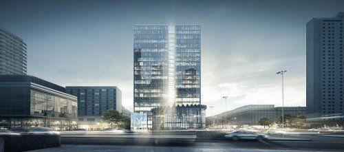 Mitten im Zentrum von Warschau baut die S + B-Gruppe ein Bürohaus. Investitionssumme: rund 100 Millionen Euro.  Bild: S + B