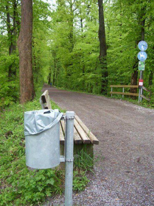 Öffentliche Mülleimer tragen zur Sauberkeit bei.  Foto: cth