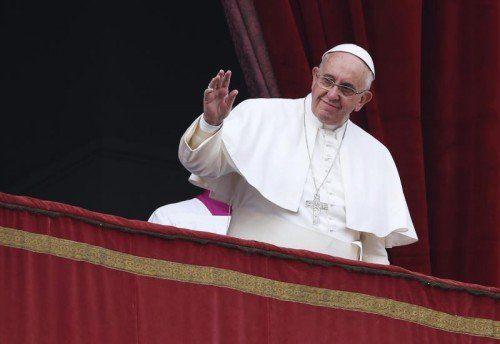 Papst Franziskus betete für Hoffnung und Frieden. Er erinnerte an all die Menschen, die unter den aktuellen Konflikten leiden.  FOTO: RTS