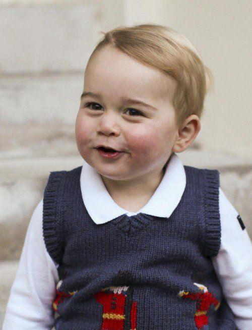 Prinz George ist seinem Vater wie aus dem Gesicht geschnitten. EPA