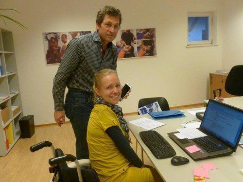 Sabrina Nitz kann bei Bedarf auf Unterstützung durch Heinz Grabher zurückgreifen. Foto: VN/Mohr