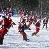 Santas sportlich unterwegs