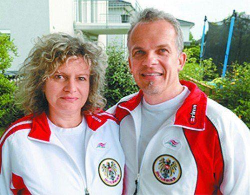 Vize-Europameister Patrick Moor mit Gattin Daniela. Foto: privat