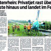 Chaos im Cockpit beim Flugunfall in Altenrhein