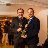 Winzer mit Hotelchef: Toni Honsig (l.) und Johannes Pfefferkorn.
