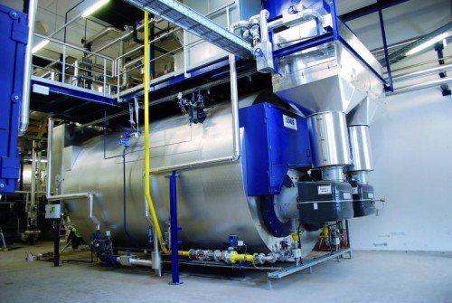 Zwei Dampfkessel erzeugen bis zu 20 Tonnen Dampf pro Stunde.  Foto: Rondo