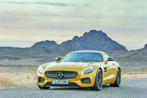 Ab März im Mercedes-Schauraum: Der neue Mercedes-AMG GT kostet in Österreich ab 140.540 Euro. Foto: werk
