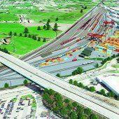 Bauarbeiten am Terminal auf Schiene