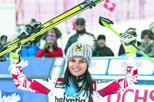 Anna Fenninger hat gut lachen, sie ist vor der WM sehr gut in Form. Foto: ap