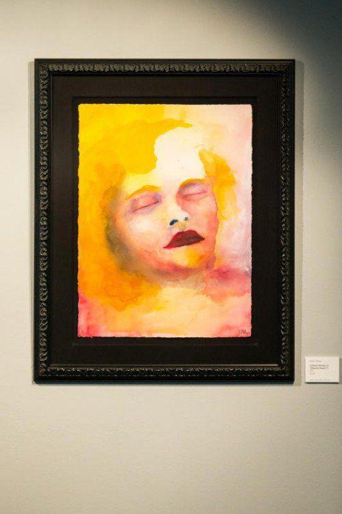 Ausstellung von Marilyn Manson im Flatz-Museum. Bitte die Arbeiten durchfotografieren.