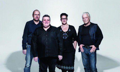 Bernie Weber, George Nussbaumer, Martina Breznik, Harry Marte v.l.n.r. Benefizkonzert für die Vorarlberger Krebshilfe 2014