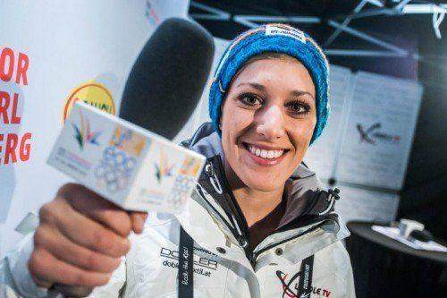 Bianca Oberscheider, Tochter von Geschäftsführer Günter, moderierte bei den Jugendspielen gekonnt. steurer