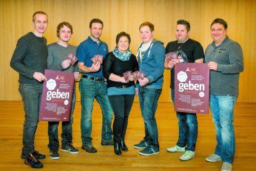 Das Organisationsteam (v. l.): Stefan Meusburger, Mathias Niederwolfsgruber, Christian Greber, Marika Schneider, Tobias Felder, Karlheinz Kempf, Christian Rüscher.