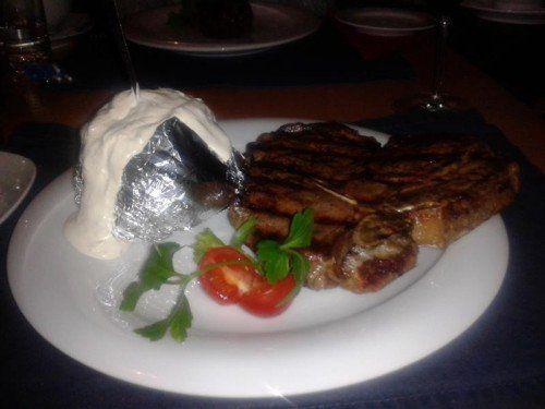 Das T-Bone-Steak mit 600 Gramm.