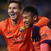 Messi meldet sich mit drei Toren zurück
