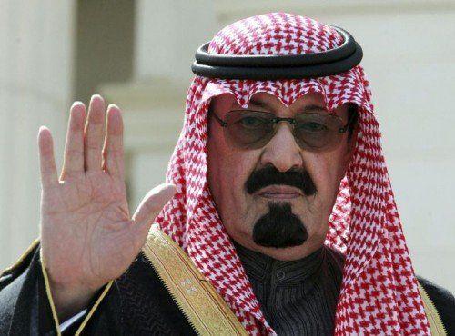 Der saudische König Abdullah satrb in der Nacht auf Freitag nach langer Krankheit im Alter von etwa 91 Jahren. FOTO: RTS