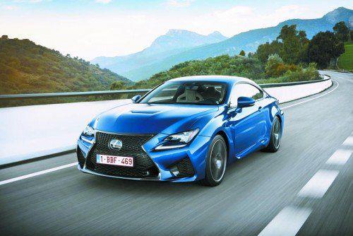 Die Eckdaten des Lexus RC F: 5,0-Liter-V8-Benziner, 477 PS, 530 Nm, 270 km/h Spitze. Fotos: werk