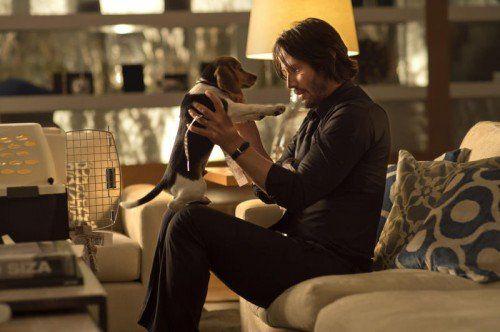 Die Idylle trügt: Keanu Reeves wird als John Wick im gleichnamigen Film doch wieder zum Killer.  Foto: AP