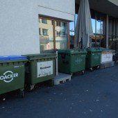 Mülltonnen verschandeln Lustenauer Blauen Platz