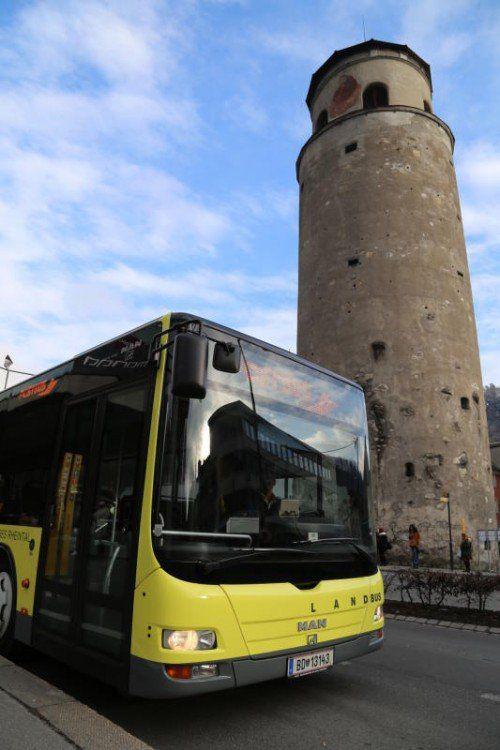 Drei neue umweltfreundlichere Busse.  Foto: Stadt Feldkirch