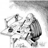 Arbeitskleidung für Karikaturisten!