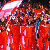 Österreichs Athleten beim feierlichen Einzug